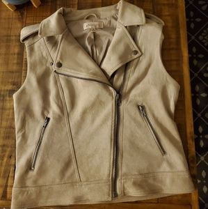 Suede vest polyester lining